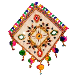 6 INCH X 6 INCH - Jhumar - Wall Hanging - Rajasthani Hanger - Kite Decorative Jhumar - Multi Color