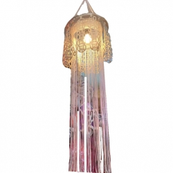 18 Inch - Multi Color - Lantern - Hanging Lantern - Kandil - Candle - Holders - Made Of Plastic.