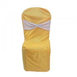 Chandni Chair - Cover without Handle -  For Plastic Chair - Yellow Color