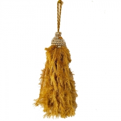 1 FT Hanging Fur - Lout-con - Wall Hanging - Sparkled Fur - Golden Color .