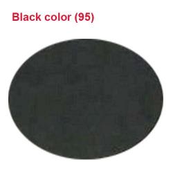 26 Gauge - BRITE LYCRA - 54 Inch Panna - Event Cloth - Black  Colour