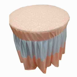 4 FT X 4 FT - Round Table Cover - Made Of Premium Quality Brite Lycra and top in velvet fabric