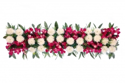 4  Feet Plastic Artificial Flower Cannel Patta / Main Door Hanging For Wedding & Decoration.