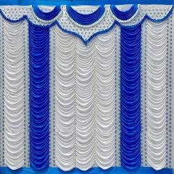 11 FT X 15 FT - Designer Curtain - Parda - Stage Parda - Wedding Curtain - Mandap Parda - Back Ground Curtain - Side Curtain - Made Of 24 Gauge Brite Lycra - Multi Color