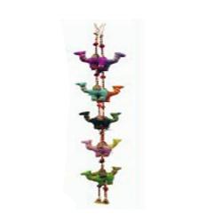 5 FT - Artificial Plastic Ladi - Plastic Ladi - Plastic Decoration - Multi Color (1 Packet - 2 Pieces)