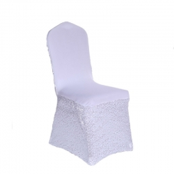 Lycra - Chandni Chair - Cover Without Handle - For Plastic Chair - Skin Fitting Chair Cover - Super White Color