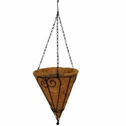 Artificial Hanging Basket - Garden Hanging Decoration - Brown Color
