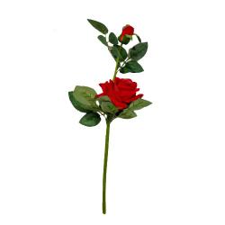 Height -18 Inch - Rose Flower Stick - Artificial Stick - AF- 168 - Stick - Dark Red Color
