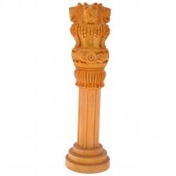 8 Inch - Wooden Piller - Ashoka Pillar - Artificial Piller - Made Of Wooden