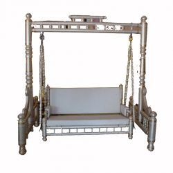 Sankheda Jhula - Wooden Swing - Made Of Premium Quality Wood - White Color