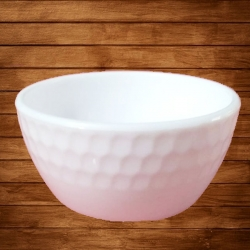 3.5 Inch Round Bowl - Wati - Katori - Curry Bowls Made Of Food Grade Virgin Plastic - White Color
