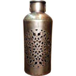 18 INCH - Long Iron Flower Vase - Antique Showpiece - Pot Beautiful Decor Article - Golden Color