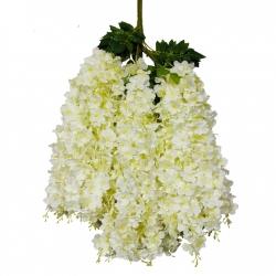 3.5 FT - Plastic Artificial Flower - Latkan - Flower Decoration - White Color - (1 Packet - 12 Piece Leaf )