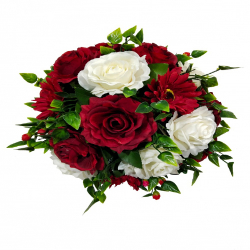 11 Inch - Artificial Flower - Hanging Basket - Flower Decoration - Multi Color