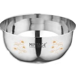 5 Inch - Bowl Kraft - Laser Bowl - Mirror Finish - Made Of Stainless Steel - Set Of 6