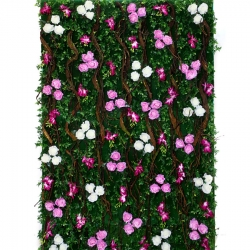 4 FT X  6 FT Feet - Artificial Flowers Wall - Flower Decoration - Multi Color