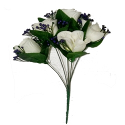 13 Inch - Artificial Flower Bunches - Flowers Artificial Leaf For Wedding - Reception - Home Decor