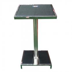 3.5 FT - Podium - Presentation Desk - Made Of Stainless Steel - Black Color