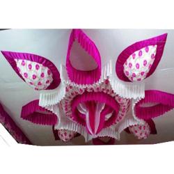 15 FT X 15 FT - Designer Mandap Ceiling Cloth - Shamiyana Ceiling - Taiwan Top - 26 Gauge Bright Lycra Cloth