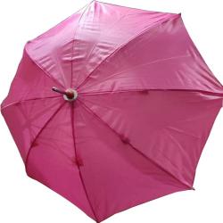 24 Inch Height & 28 Diameter - Umbrella Handicraft Walking Stick Umbrella - Pink Color