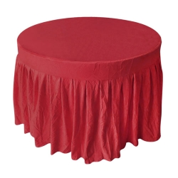 4 FT x 4 FT - Round Table Cover - Made of Premium Quality Lycra Cloth - Red Color
