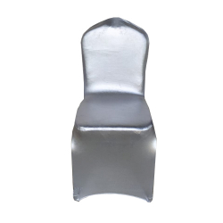 Chair Frill Cover - Imported - Elastic - Silver Color -..