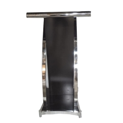 4 FT - Podium - Dias - Lectern Stand - Presentation Dias Made Of Stainless Steel - Black Color.