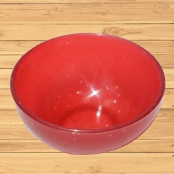 3 Inch - Straight Katori - Bowl - Wati - Curry Bowls - Dessert Bowls - Made Of Food Grade Regular Plastic - Red Color