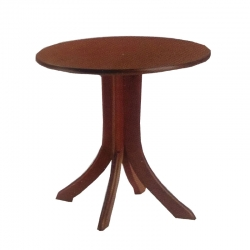 High Quality Heavy Round Table -  Made Of Wooden Brown Color.