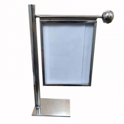 19.5 Inch - Menu Stand - Menu Card Holder- Made Of Stainless Steel - Pipe Holder - Weight - 2.7 Kg