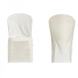 Brite Lycra - Cloth Chair Cover Without Handle - For Plastic Chair - Armless - White Color