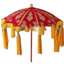 4.5 FT - Finish Fancy Umbrella - Wedding Umbrella - Red & Yellow Color
