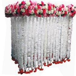 4 FT X 3 FT  X 3 FT - Artificial Plastic Flower Garland Toran - Flower Ladi - Flower Decoration - Multi Color