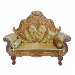 Golden Color - Heavy Premium Metal Jaipur Couches - Sofa - Wedding Sofa - Wedding Couches - Made Of High Quality Metal & Wooden