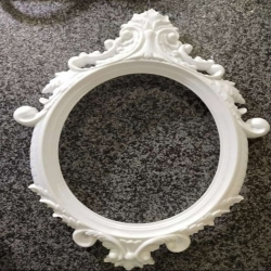 2.5 FT - Selfie Round Frame - Artificial Stand - Decoration - White Color