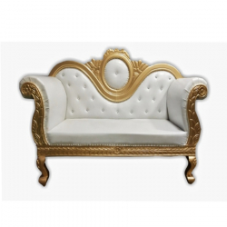 White Color - Maharaja Sofa  - Heavy - Premium - Couche..