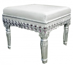 21 Inch X 21 Inch - Silver Color - Puja Chowki - Pata - Chowki - Chaurang - Bajoth - Made Of Wooden & Meta