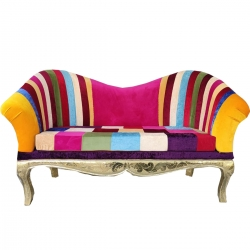 Multicolor - Udaipur - Rajasthani - Heavy - Premium - Couches - Sofa - Wedding Sofa - Wedding Couches - Made of Wooden & Metal.