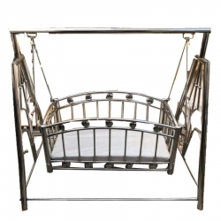 3.5 FT X 3.5 FT - Baby Cradle - Palna - Made of Stainless Steel - White Color - Weight - 12 Kg