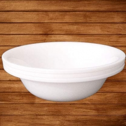 Decornt Serving Bowls - Big Mixing Bowls - Donga - Microwave-Safe -  White Bowls.