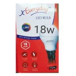 18 Watt - X Everyday LED Bulb (Regular Pin Holder) - Cool Day Light - 1 Box 10 Pieces