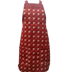 Cotton Kitchen Apron - With Front Pocket - Brown Color