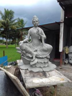 Fiber Rhino Statue Buddha  - Indoor & Outdoor - Made of Fiber