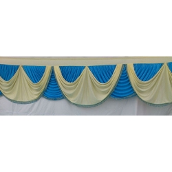 Table Cover Frill - Counter Jhalar - Made of Brite Lycra - Multi Color (Size Available 10 Ft X 15 Ft X 30 Ft )