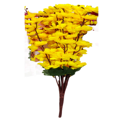 Height  24 Inch - Blossom Bunch X 9 Stick - AF- 503 - Leaf Bunch - Yellow Color