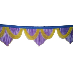 10 FT - Jhalar - Mandap Jhalar For Wedding & Party - Made Of Heavy Brite Lycra Cloth