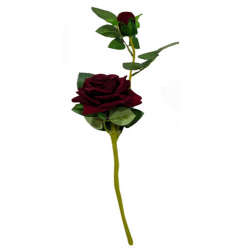 Height -18 Inch - Rose Flower Stick - Artificial Stick - AF- 168 - Stick - Brown Color