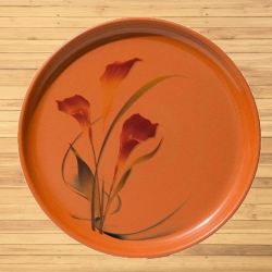 12 Inch Second Quality - Dinner Plates - Made Of Food-Grade Regular Plastic Material - Round Shape - Printed Plate