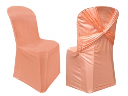 Chandni Cloth Chair Cover - Without Handle - For Plastic Chair - Armless - Peach