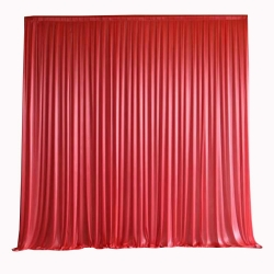 10 FT X 12 FT - Designer Curtain - Parda - Stage Parda - Wedding Curtain - Mandap Parda - Background Curtain - Side Curtain - Made Of Bright Lycra - Peach & Catonic Orange Color